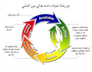 چرخه حیات دامنه های بین المللی